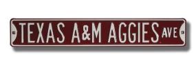 TEXAS A&M AGGIES AVE Street Sign