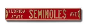 FLORIDA STATE SEMINOLES AVE Street Sign