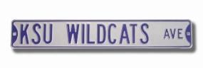 KSU WILDCATS AVE Silver Street Sign