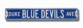 DUKE BLUE DEVILS AVE Street Sign