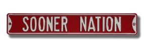 SOONER NATION Street Sign