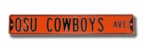OSU COWBOYS AVE Orange Street Sign