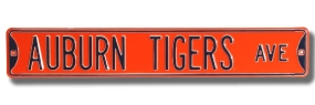 AUBURN TIGERS AVE Orange Street Sign