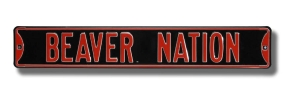 BEAVER NATION Street Sign
