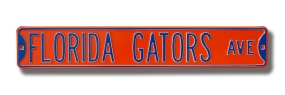 FLORIDA GATORS AVE Orange Street Sign