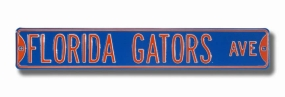 FLORIDA GATORS AVE Blue Street Sign