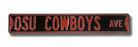 OSU COWBOYS AVE Black Street Sign