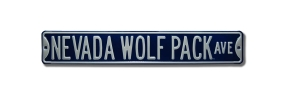 NEVADA WOLF PACK AVE Street Sign