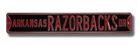 ARKANSAS RAZORBACKS AVE Blk Street Sign