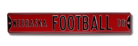 NEBRASKA FOOTBALL DR Street Sign