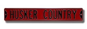 HUSKER COUNTRY Street Sign
