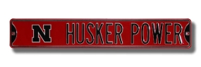 "HUSKER POWER with ""N"" logo Street Sign"