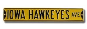 IOWA HAWKEYES AVE Street Sign