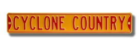 CYCLONE COUNTRY Street Sign