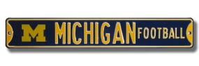 MICHIGAN FOOTBALL with logo Street Sign
