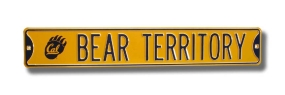 BEAR TERRITORY with Cal Paw logo Street Sign