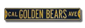 CAL GOLDEN BEARS AVE navy Street Sign
