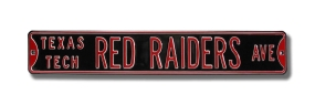 TEXAS TECH RED RAIDERS AVE Street Sign