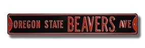 OREGON STATE BEAVERS AVE Street Sign