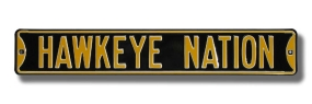 HAWKEYE NATION - Black Street Sign