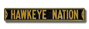 HAWKEYE NATION - Black Street Sign