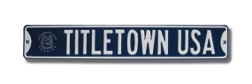 TITLETOWN USA with Uconn logo Street Sign