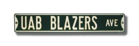 UAB BLAZERS AVE Street Sign