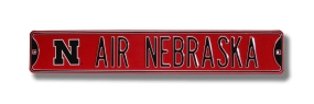 AIR NEBRASKA with N logo Street Sign