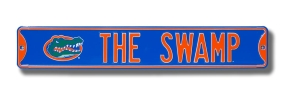 THE SWAMP with Gatorhead logo Street Sign