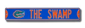 THE SWAMP with Gatorhead logo Street Sign