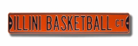 ILLINI BASKETBALL CT Street Sign