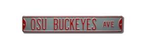 OSU BUCKEYES AVE Silver Street Sign