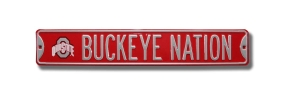 BUCKEYE NATION with logo Street Sign