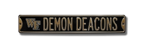 DEMON DEACONS with WF logo Street Sign
