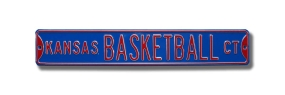 KANSAS BASKETBALL CT Street Sign