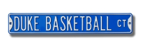 DUKE BASKETBALL CT Street Sign