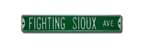 FIGHTING SIOUX AVE Street Sign