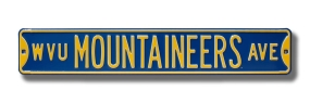WVU MOUNTAINEERS AVE Street Sign
