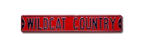 WILDCAT COUNTRY Arizona Street Sign