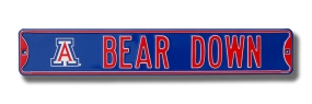 "BEAR DOWN with ""A"" logo Street Sign"