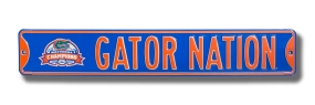 GATOR NATION with 2006 Champions logo Street Sign