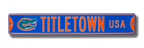 TITLETOWN USA with Gatorhead logo Street Sign