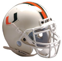 Schutt Sports Miami Hurricanes Full Size Replica Helmet