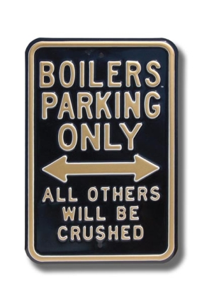 BOILERS CRUSHED Parking Sign