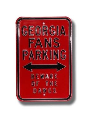 GEORGIA BEWARE DAWGS Parking Sign