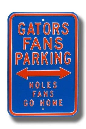GATORS NOLES GO HOME Parking Sign