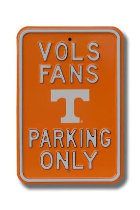 VOLS FANS logo Parking Sign