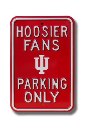 HOOSIER FANS IU logo Parking Sign