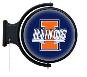 Illinois Fighting Illini Rotating Pub Light