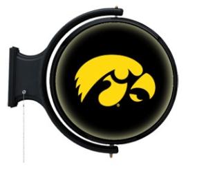 Iowa Hawkeyes Rotating Pub Light